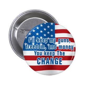 Botón de Anti-Obama Pin Redondo De 2 Pulgadas