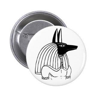 Botón de Anubis Pin Redondo De 2 Pulgadas