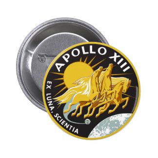 Botón de Apolo 13 Pin Redondo De 2 Pulgadas