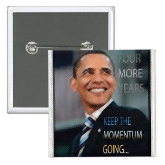 Botón de Barack Obama 2012 Pin Cuadrado