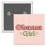 Botón de Barack Obama del chica de Obama Pins