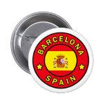 Botón de Barcelona España Pin Redondo De 2 Pulgadas