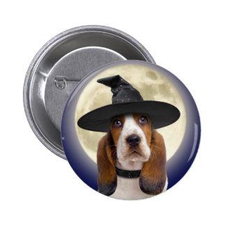 Botón de Basset Hound Halloween Pins
