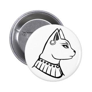 Botón de Bastet Pin Redondo De 2 Pulgadas