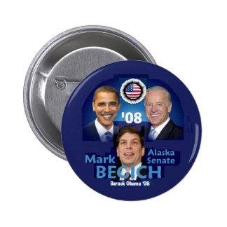 Botón de BEGICH AK Pin Redondo De 2 Pulgadas