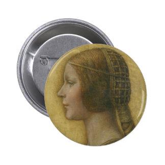 Botón de Bella Principessa del La Pin Redondo De 2 Pulgadas