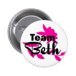 Botón de Beth del equipo Pins
