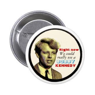 Botón de Bobby Kennedy Pin Redondo De 2 Pulgadas