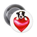 Botón de Boston Terrier del amor Pin Redondo De 2 Pulgadas