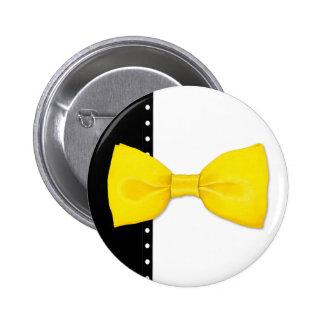 Botón de Bowtie del limón Pin