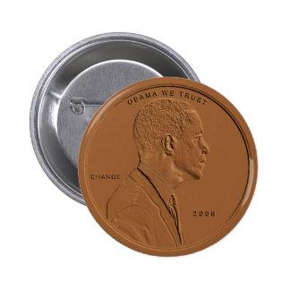 Botón de bronce de la circular del penique de Bara Pin Redondo De 2 Pulgadas