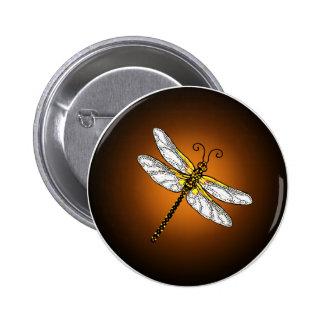 Botón de bronce de las libélulas de la libélula de pin redondo de 2 pulgadas