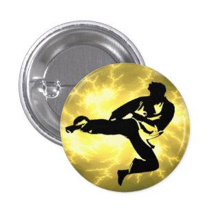 Botón de bronce del hombre de la iluminación pin redondo de 1 pulgada