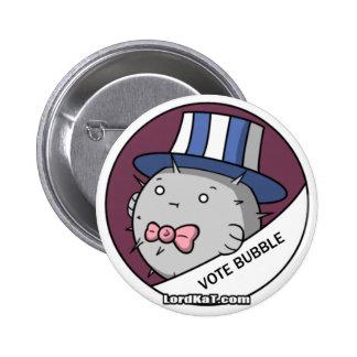 Botón de Bubblefish del voto Pins