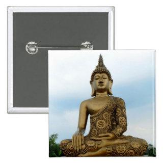 Botón de Buda Pin Cuadrado
