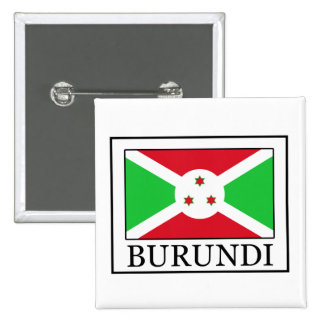 Botón de Burundi Pin Cuadrado
