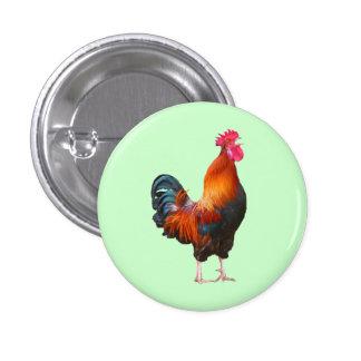 Botón de cacareo del gallo pin redondo de 1 pulgada