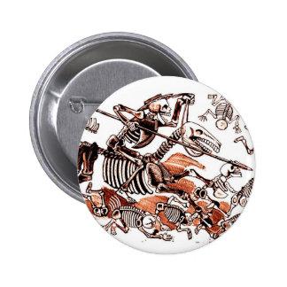 Botón de Calavera Don Quijote Pin Redondo De 2 Pulgadas