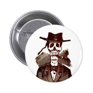 Botón de Calavera Pin Redondo De 2 Pulgadas