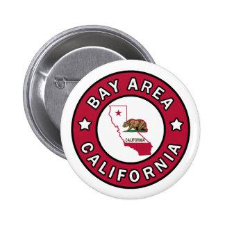 Botón de California del área de la bahía Pin Redondo De 2 Pulgadas