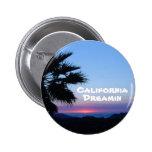 Botón de California Dreamin Pin Redondo De 2 Pulgadas
