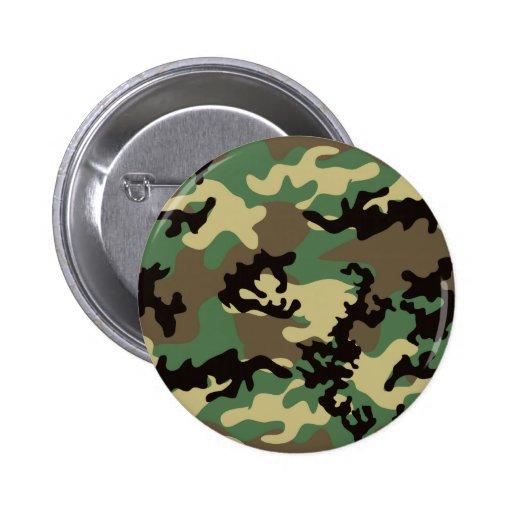 Botón de Camo del arbolado Pin