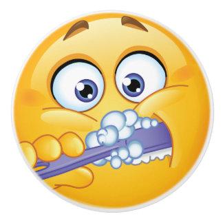 Botón de cepillado del cajón de los dientes de la pomo de cerámica