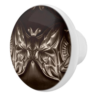 Botón de cerámica de grabación en relieve del arte pomo de cerámica