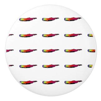 Botón de cerámica de la ballena psicodélica pomo de cerámica
