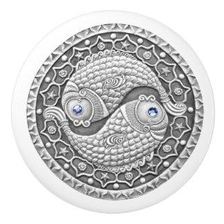 Botón de cerámica de Piscis Pomo De Cerámica