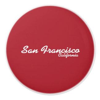 Botón de cerámica de San Francisco, California Pomo De Cerámica
