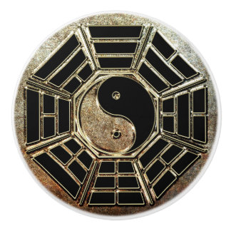 Botón de cerámica de Yin Yang Bagua Pomo De Cerámica