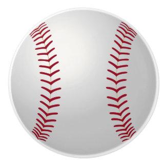 Botón de cerámica del béisbol del tema de los pomo de cerámica