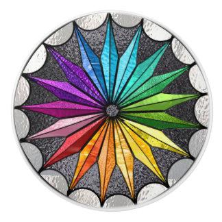 Botón de cerámica del estilo del vitral pomo de cerámica