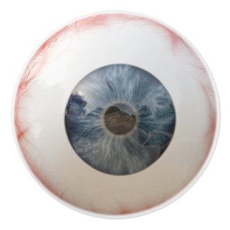Botón de cerámica del globo del ojo divertido pomo de cerámica