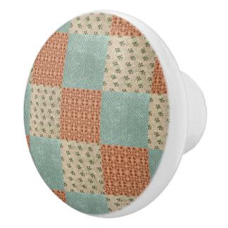 Botón de cerámica del modelo floral del remiendo pomo de cerámica