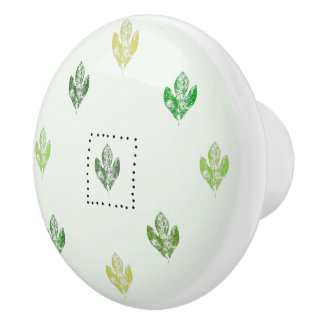 Botón de cerámica del sasafrás descarado pomo de cerámica
