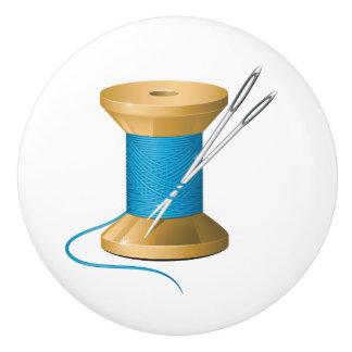 Botón de cerámica del sitio de costura - SRF Pomo De Cerámica