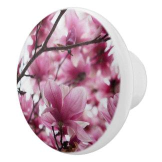 Botón de cerámica floral del tulipán japonés pomo de cerámica