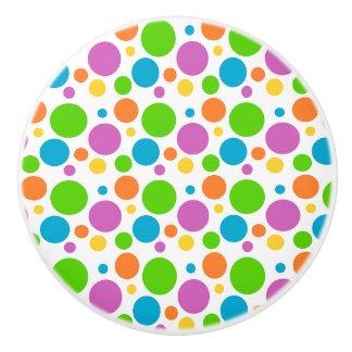 Botón de cerámica/lunares coloridos pomo de cerámica