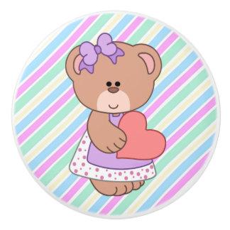 Botón de cerámica/oso lindo pomo de cerámica