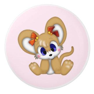 Botón de cerámica/ratón lindo pomo de cerámica