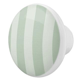 Botón de cerámica verde claro del modelo rayado pomo de cerámica