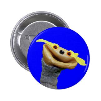 Botón de Chester (azul) Pin Redondo De 2 Pulgadas