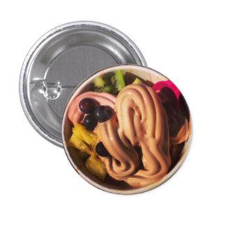 Botón de Choco Froyo Pin Redondo De 1 Pulgada