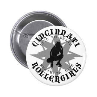 Botón de Cincinnati Rollergirls Pin Redondo De 2 Pulgadas