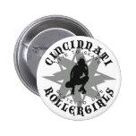 Botón de Cincinnati Rollergirls Pins
