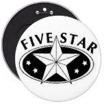 Botón de cinco estrellas pin
