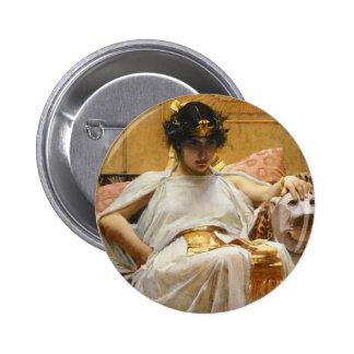 Botón de Cleopatra del Waterhouse Pin Redondo De 2 Pulgadas