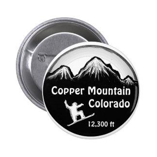 Botón de cobre del arte de la snowboard de Colorad Pin Redondo De 2 Pulgadas